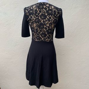 Betsey Johnson Dresses - BETSEY JOHNSON BLK LACE OVERLAY COCKTAIL Dress